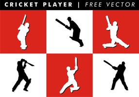 Cricket spelare gratis vektor
