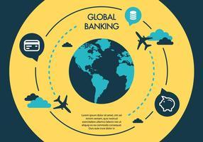 Gratis Business Vector Backgorund med Globe