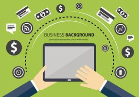 Free Business Vector Backgorund med typografi
