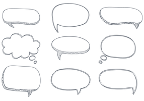 Gratis Sketchy Dialogue Bubbles Vector