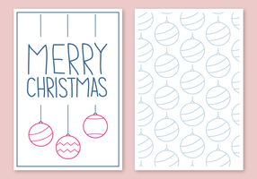 Kostenlose Weihnachtskarte Vektor