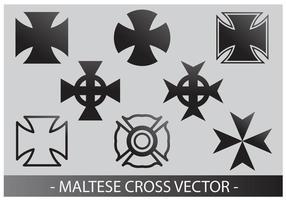 Maltesischen kreuz vektor