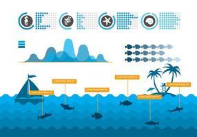 Marine Jahresbericht Vektor
