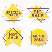 uppsättning geometriska försäljning banners