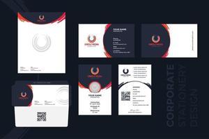 Grunge Stroke Corporate Briefpapier Design vektor