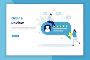 online granskning målsida vektor