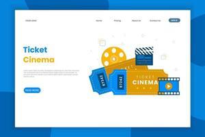 Landingpage für Kinokarten vektor