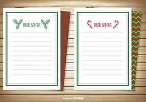 Kära Santa Notatkort Set