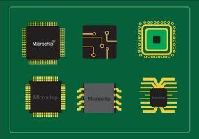 Olika mikrochips vektor
