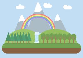 Gratis landskapsvektor vektor