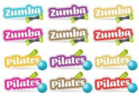 Zumba und Pilates Titel vektor
