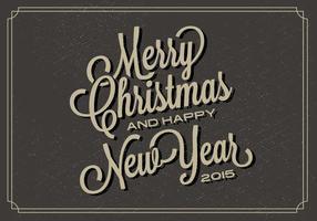 Gratis Weihnachten Typografie Vektor Backgorund