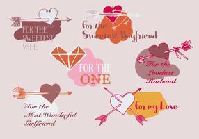 Freier Valentinstag Vektor Hintergrund mit Pfeilen
