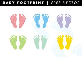 Baby fotspår fri vektor