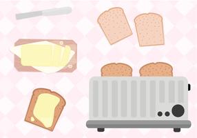 Kostenlose Toast Vektor