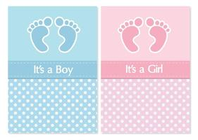 Söt Baby Shower Card Set
