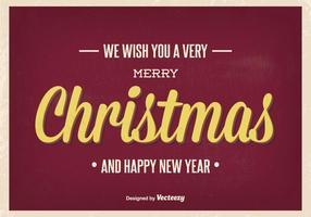 Vintage julhälsning illustration