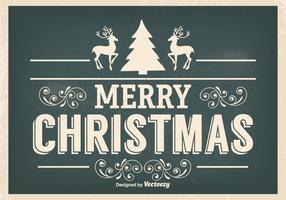 Weinlese-Weihnachtsillustration