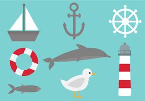 Gratis Nautical Elements Vector