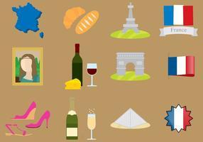 Frankreich Icons