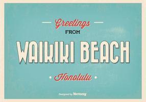 Waikiki hälsning illustration vektor