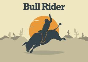 Bull rider illustration vektor