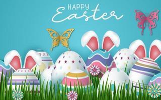 glücklicher Ostereihintergrund