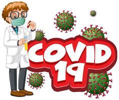 covid 19 männlicher Arzt vektor