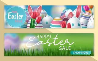 Set Ostern Verkauf Sonderrabatt Web Banner Set