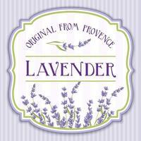 Lavendel Vintage Shabby Chic Label vektor