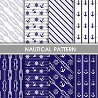 samling av nautiska mönster