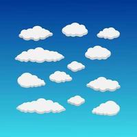 vita moln i blå himmel
