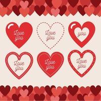 älskar dig hjärtan element pack