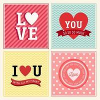 kärlek kort samling vektor