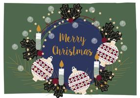 Jul bakgrunds illustration