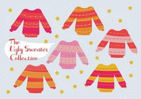 Free Set von hässlichen Pullover Vektor Hintergrund