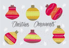 Free Christmas Ornametns Vektor Hintergrund