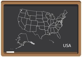 State Outlines Karte Vektor