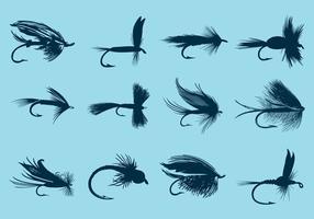 Flugfiske krokar vektor