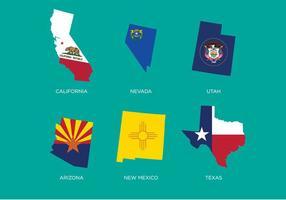 State Outlines Vektor