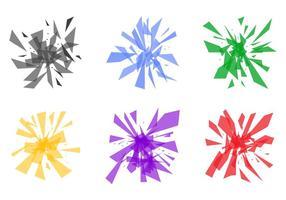 Gratis krossat och brutet glas # 3 vektor
