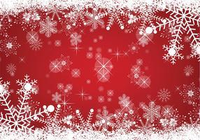 Snöig julbakgrund vektor