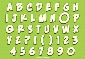 Gullig Citron Stil Alfabet Set vektor
