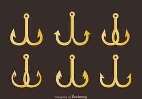 Goldene Fischhaken vektor