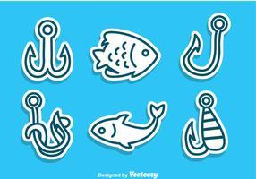 Fischhaken und Fische