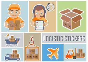 Leverans och logistikklistermärken vektor