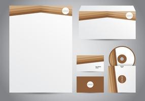 Brätt brunt brevhuvud vektor
