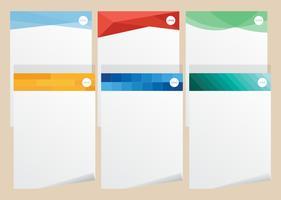 Briefkopf Sammlungen vektor