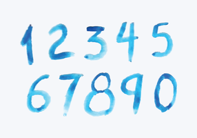 Aquarell-Stil Zahlen vektor