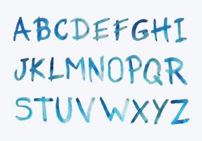 Aquarell-Buchstaben vektor